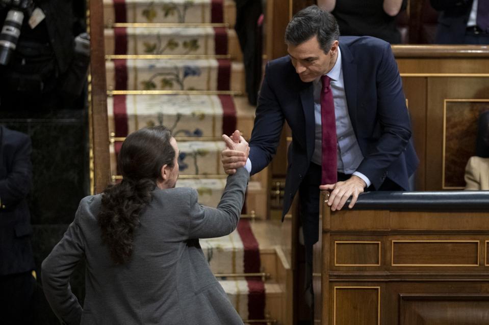 Spanish Parliament Holds Pedro Sanchez Investiture Debate