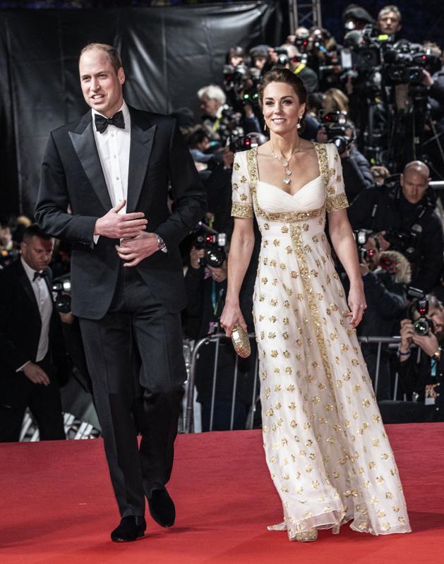 The Duke And Duchess Of Cambridge Baftas 2020 red carpet