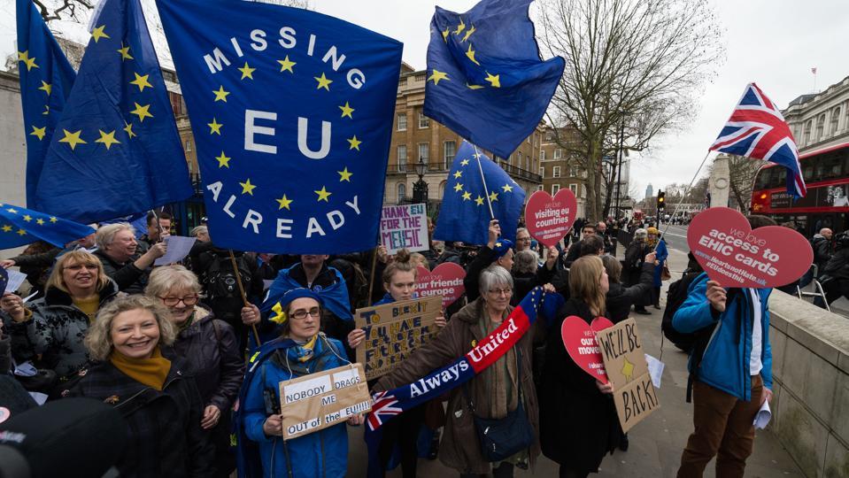 Brexit Day in London.