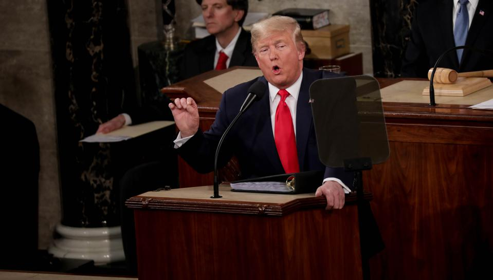 President Trump at the State of the Union address