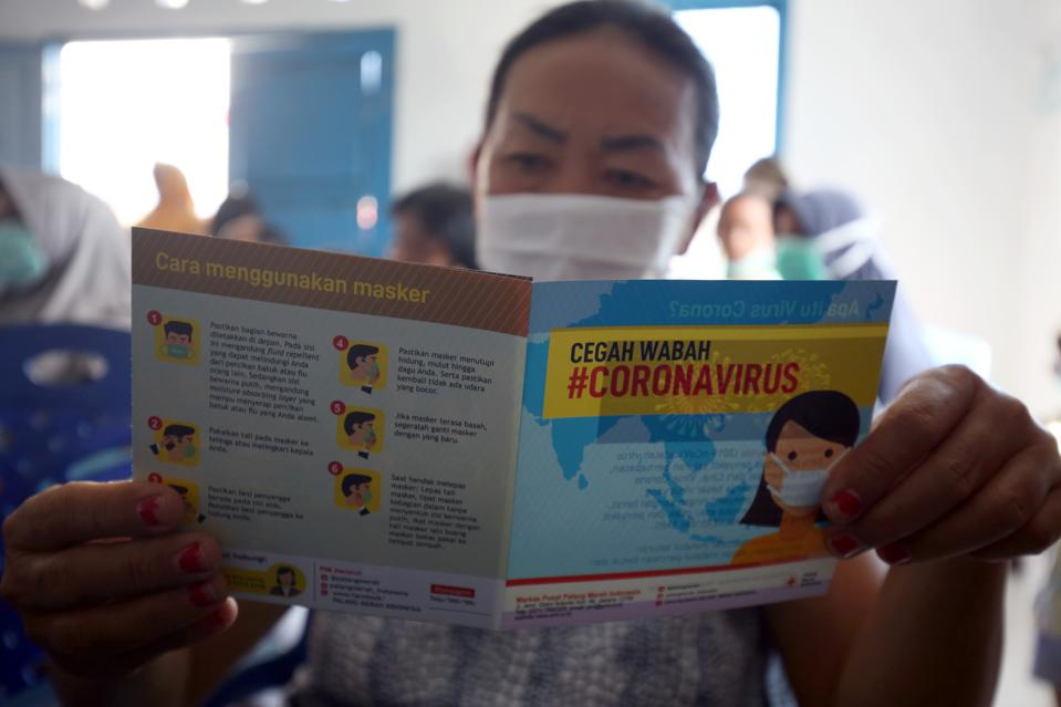 Medical team give socialization to residents near quarantine center in Natuna