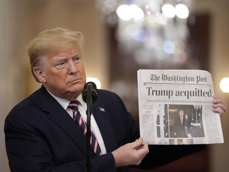 President Donald trump Delivers Statement On Senate Impeachment Trial's Acquittal