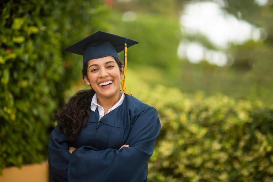 Young woman graduating -- how will recent graduates find a job in a bad job market