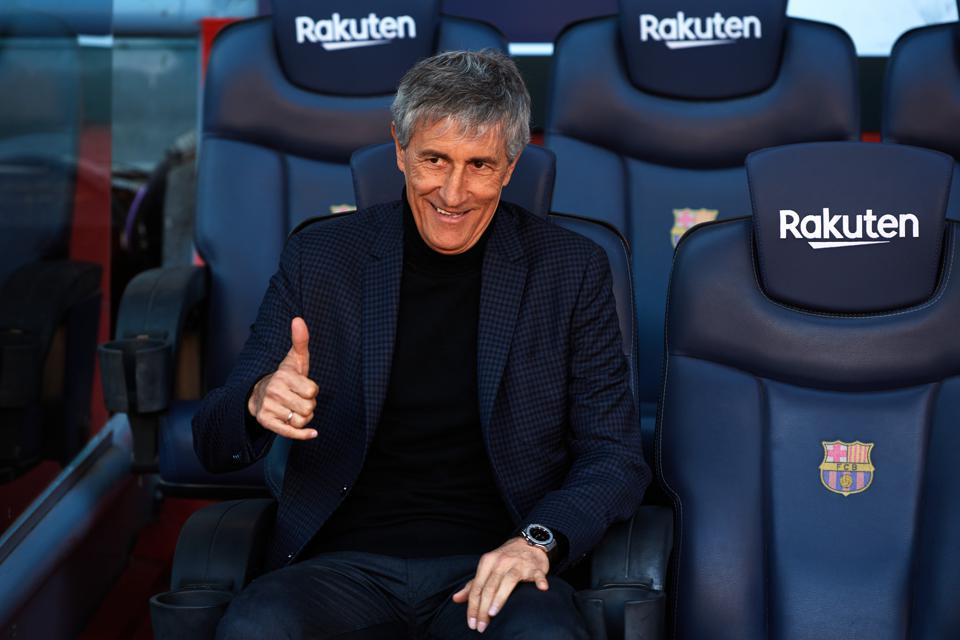 FC Barcelona Unveil New Coach Quique Setien