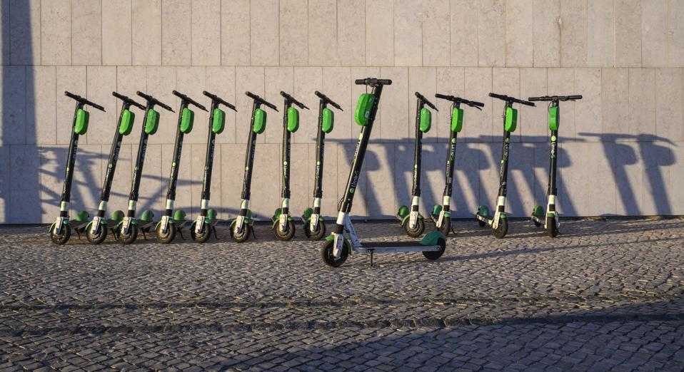 Electric scooters in Lisbon