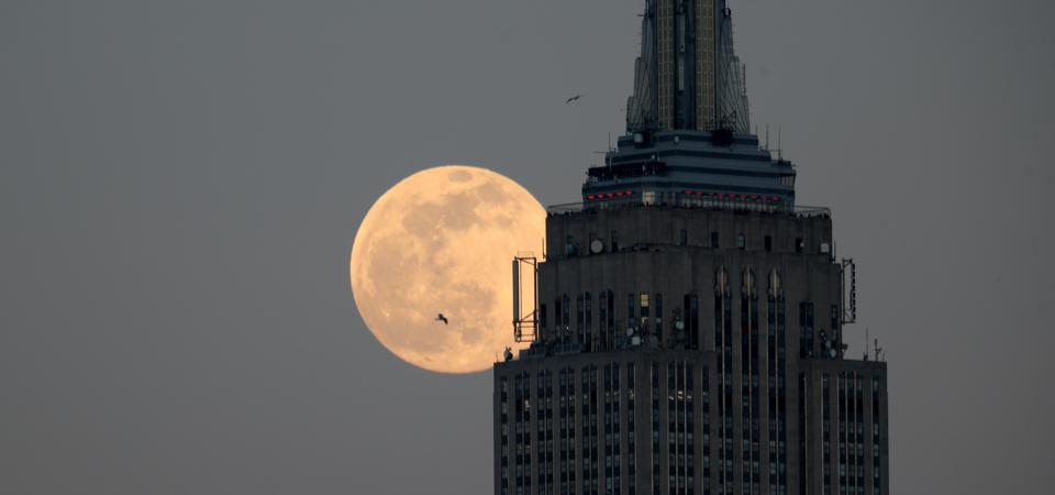 Snow Moon in New York City