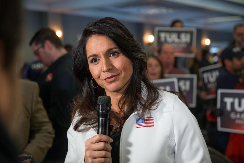 Presidential Candidate Tulsi Gabbard Holds Town Hall In Portsmouth, NH