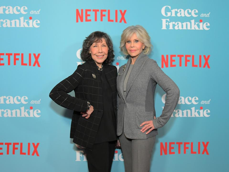 Netflix Presents A Special Screening Of ″GRACE AND FRANKIE″ - Season 6 Jane Fonda Lily Tomlin social security benefits