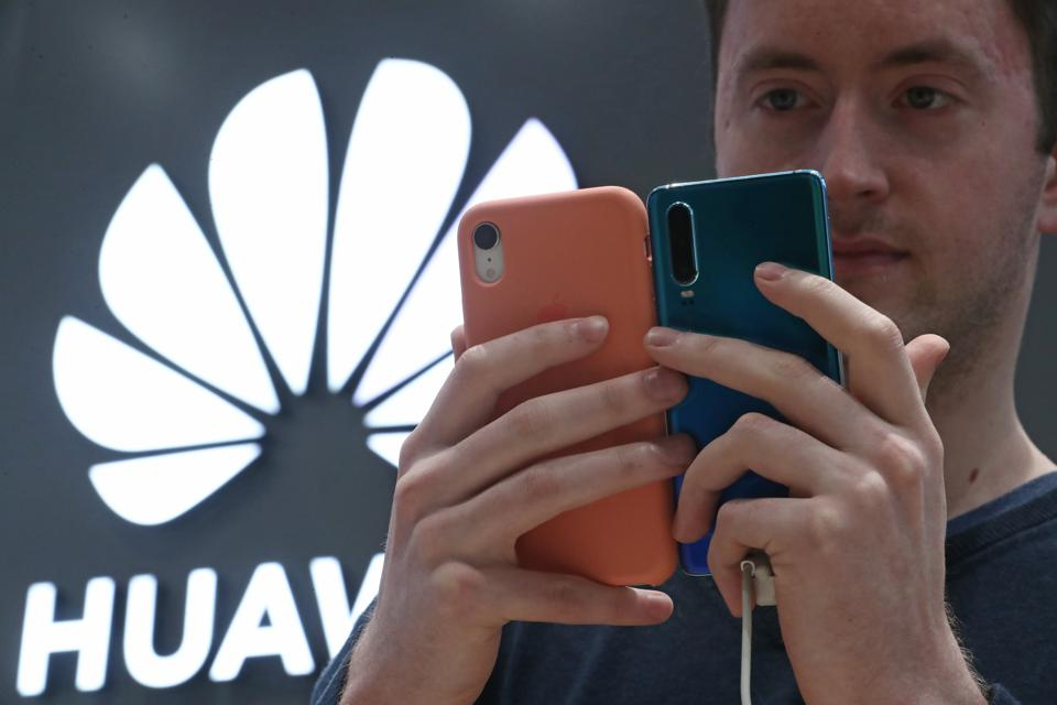 Huawei Mate 30 Pro smartphone on sale in Moscow