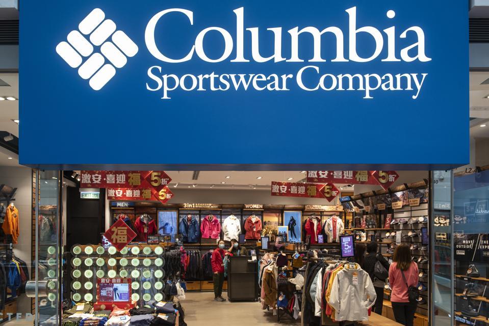 American sportswear brand Columbia store seen in Hong Kong...