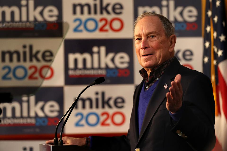 Presidential candidate Mike Bloomberg...