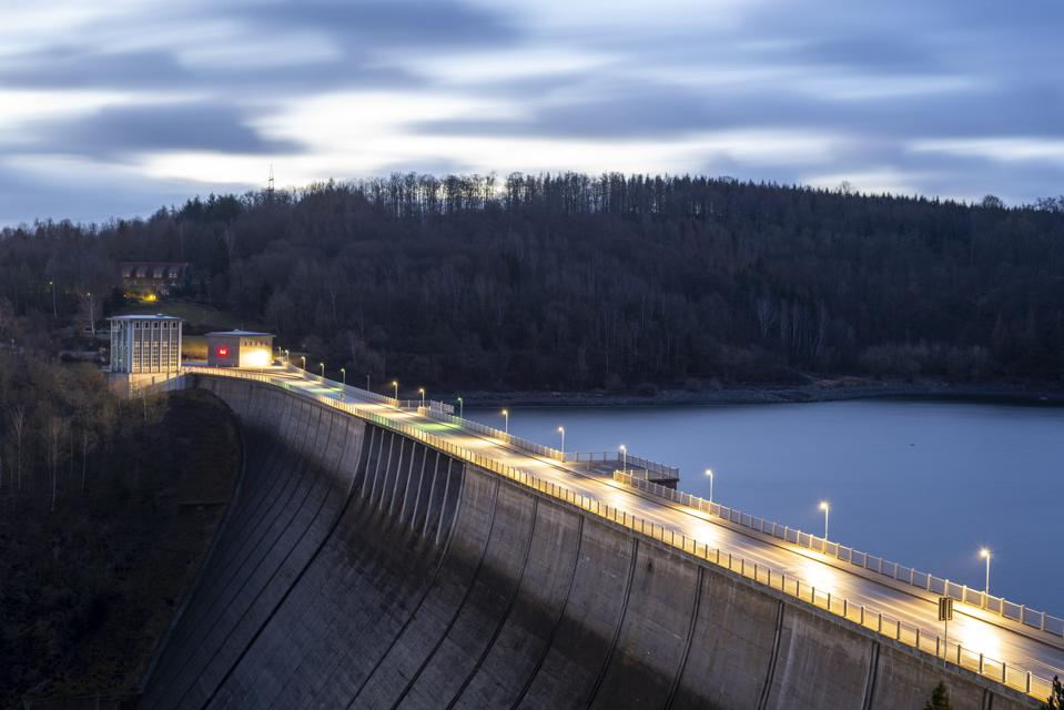The Rappbode dam near Wendefurth, Germany, provides power for Wattenfall's nearby power plant