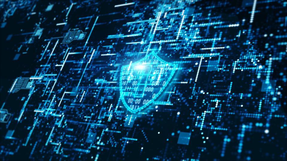Крупный План Системы Безопасности На Экране Устройства