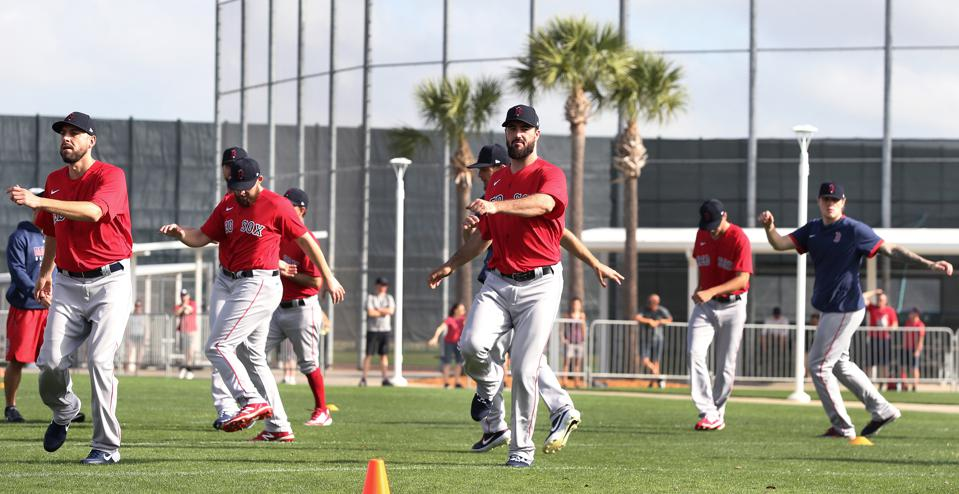 First Official Workout of Red Sox Spring Training