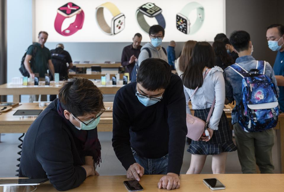 Apple store in Hong Kong on February 12, 2020