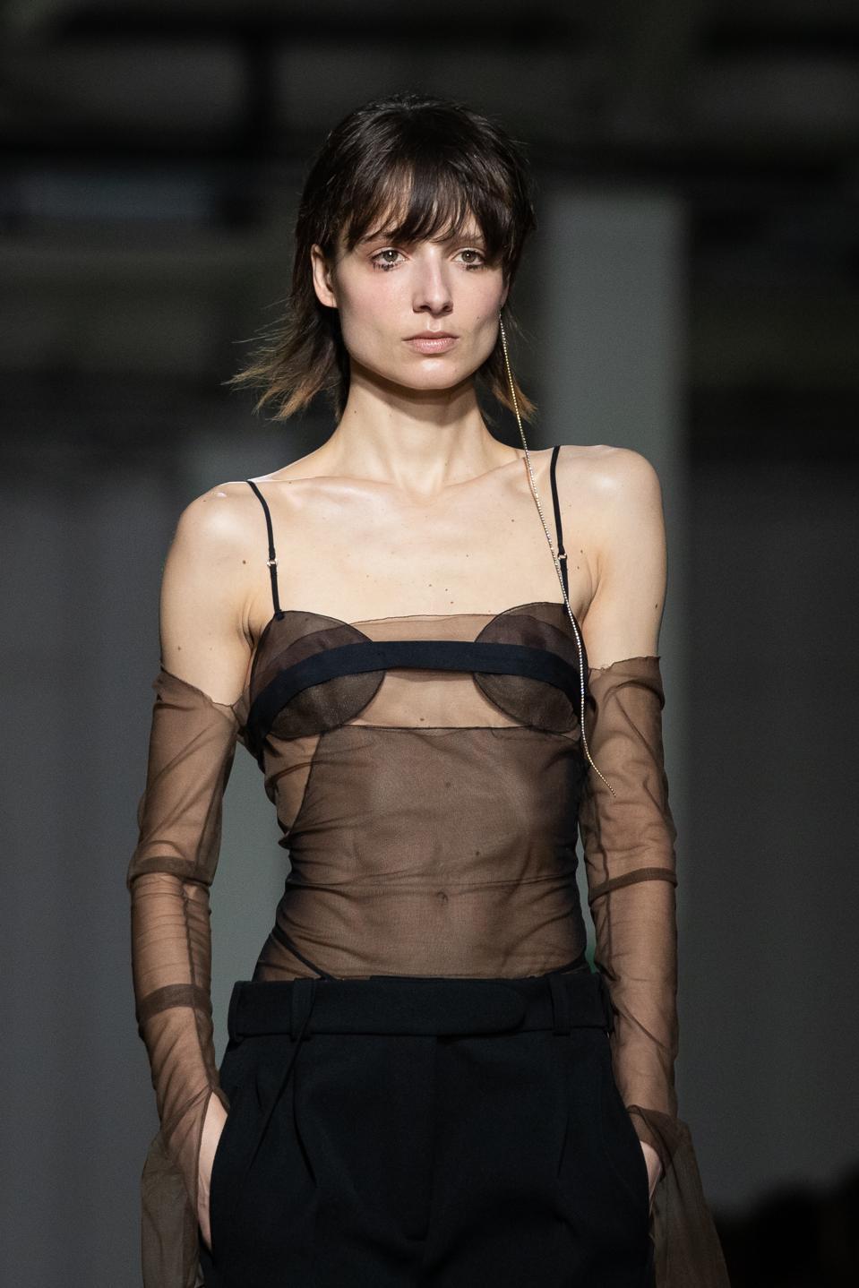 Nensi Dojaka Catwalk - London Fashion Week February 2020