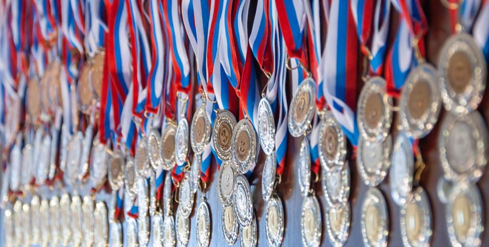 Gold medals for best of breed athletic competitors
