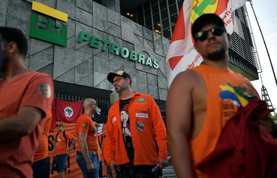 BRAZIL-OIL-PETROBRAS-LAYOFFS-PROTEST
