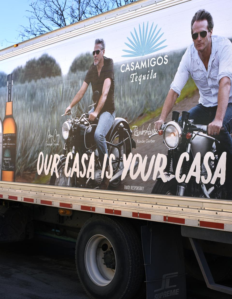 Casamigos tequila delivery truck