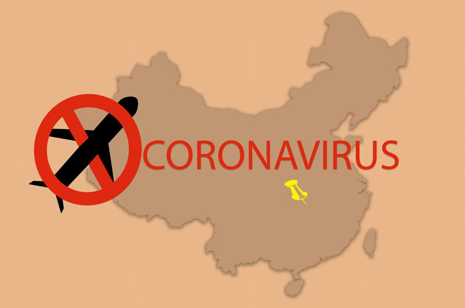 Wuhan china travel ban due to Coronavirus nCoV or SARS spread around the world - Epidemic zone - Health and medicine concept