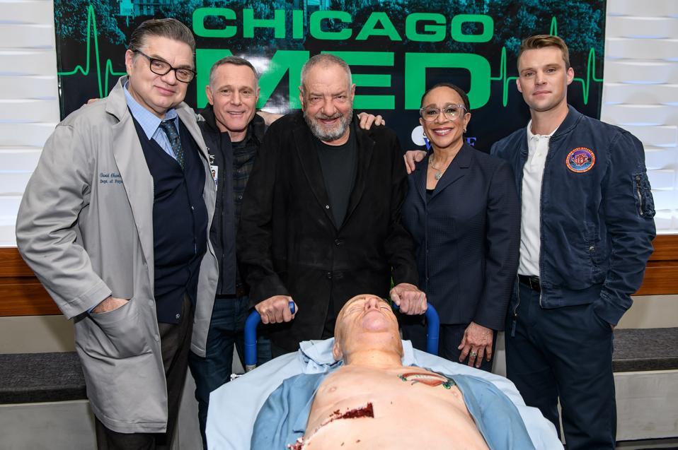 ″Chicago Med″ 100th Episode Cake Cutting Celebration