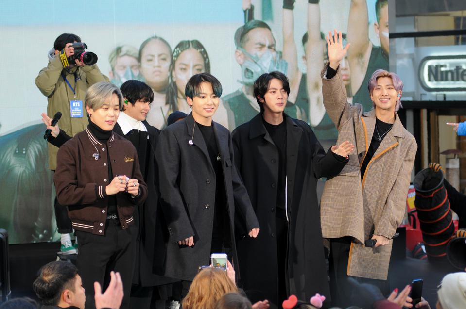 BTS band visits the Today Show in New York, US