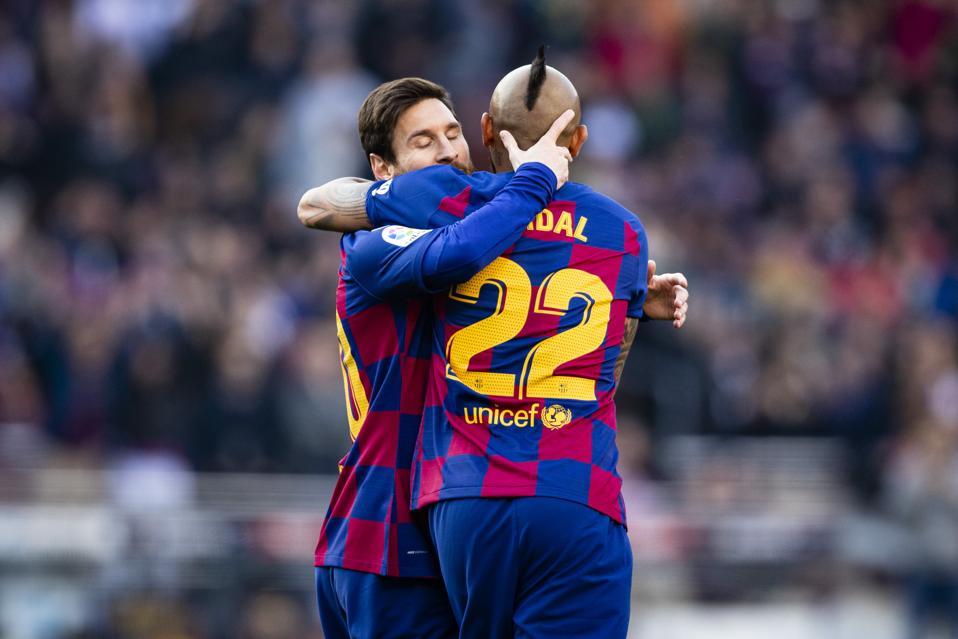 Lionel Messi scored four goals against Eibar