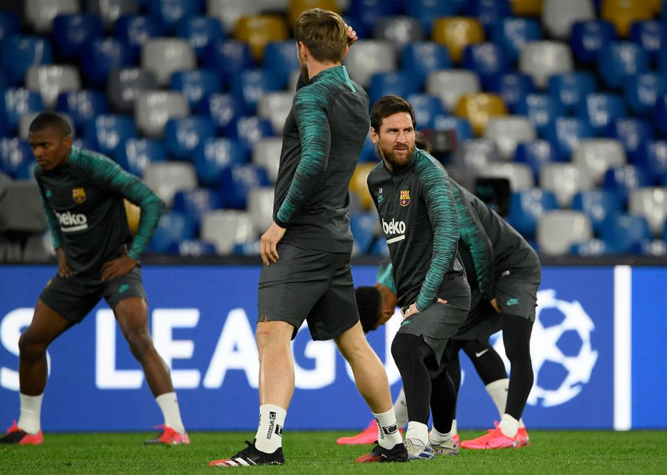 FC Barcelona Versus Napoli Champions League Preview: Barcelona Team News And Starting Lineup