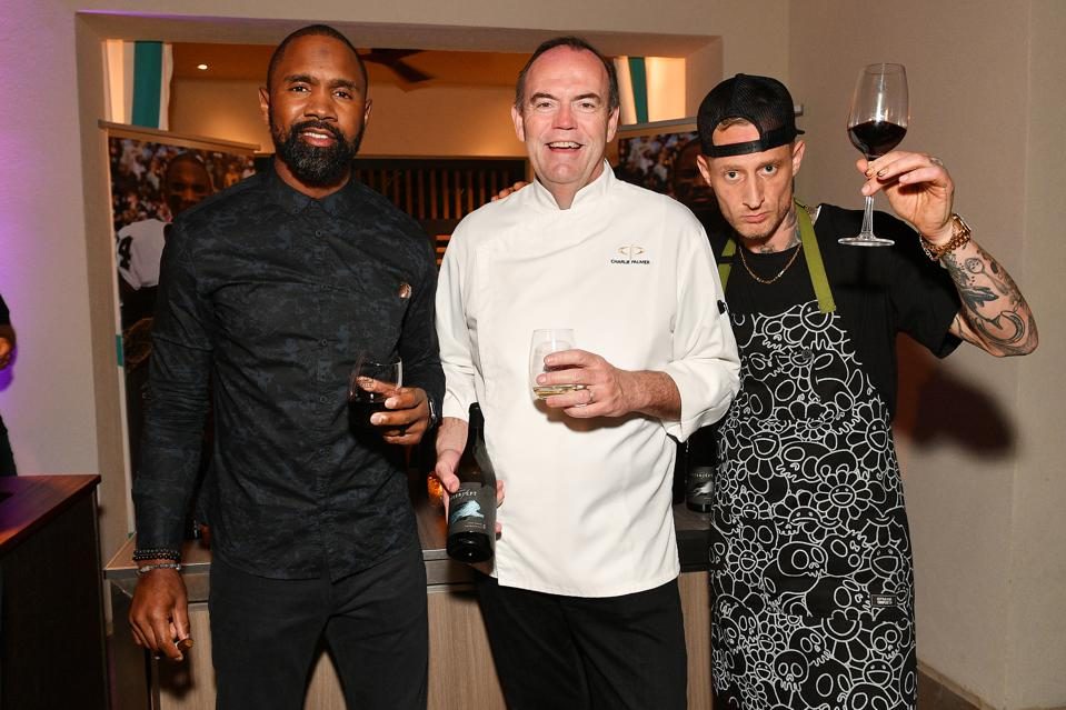 Charles Woodson, Chef Charlie Palmer and Chef Micheal Voltaggio during the 6th Annual Culinary Kickoff on January 30, 2020 in Hollywood, Florida. (Photo by Dia Dipasupil/Getty Images for #CulinaryKickoff )