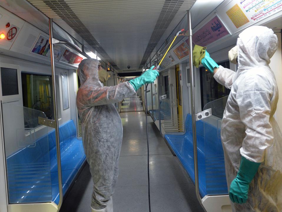 Coronavirus precautions in Tehran