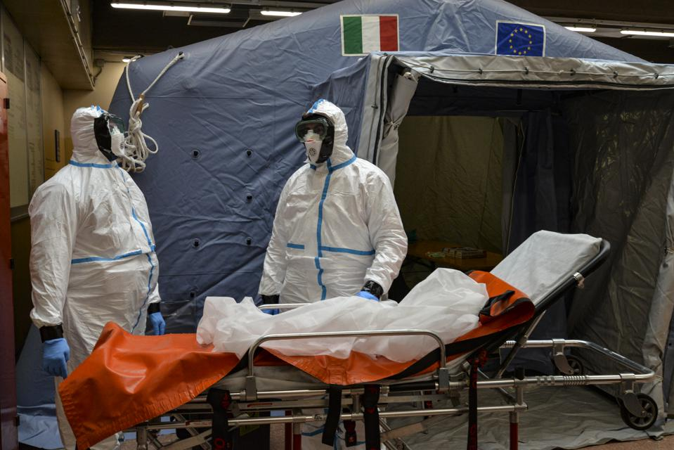 Staff assigned for Coronavirus tests at the Molinette...