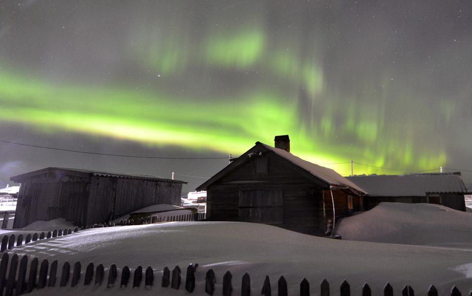 Northern Lights in Murmansk Region, Russia