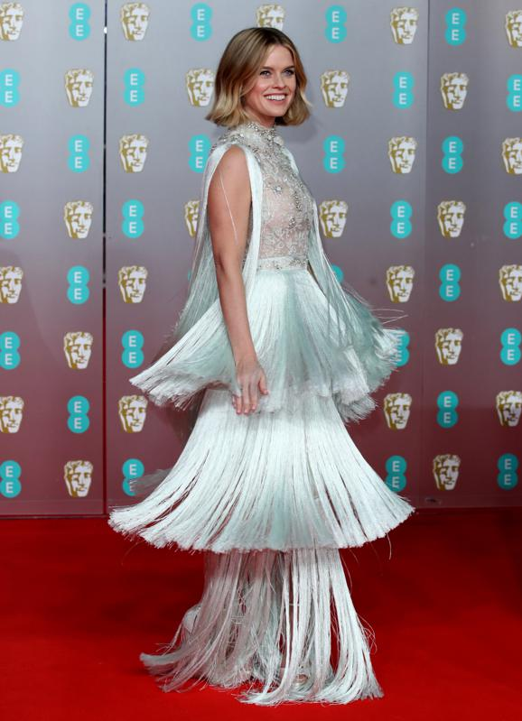 Alice Eve in Ralph & Russo on the Baftas 2020 red carpet