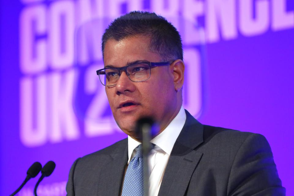 British business secretary Alok Sharma at a meeting in support of COP26.