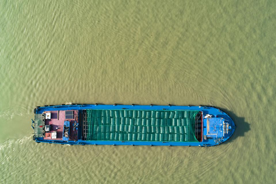 Cargo Ships On Grand Canal