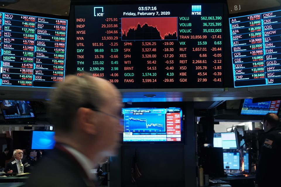 Stocks Drop Over 200 Points As Economic Concerns Over Spreading Of Coronavirus Worry Global Investors