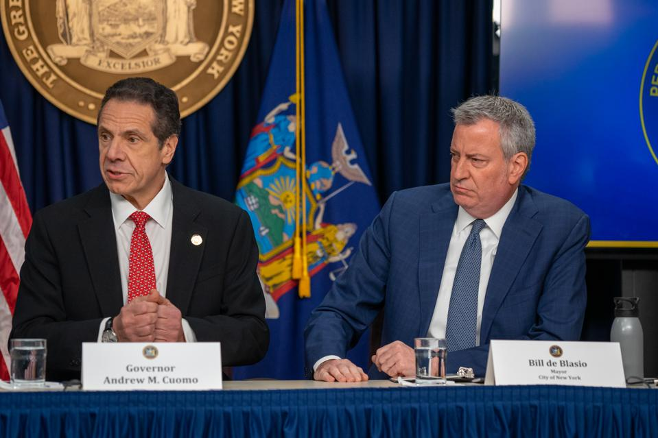 NY Gov. Cuomo And NYC Mayor De Blasio Brief On First Coronavirus Case In NY State