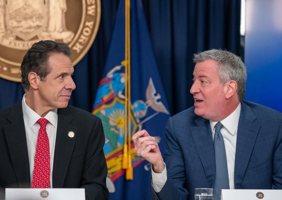 NY Gov. Cuomo And NYC Mayor De Blasio Brief On First Coronavirus Case In NY State