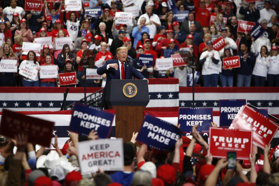 Donald Trump Holds Pre-Super Tuesday Campaign Rally In Charlotte, NC
