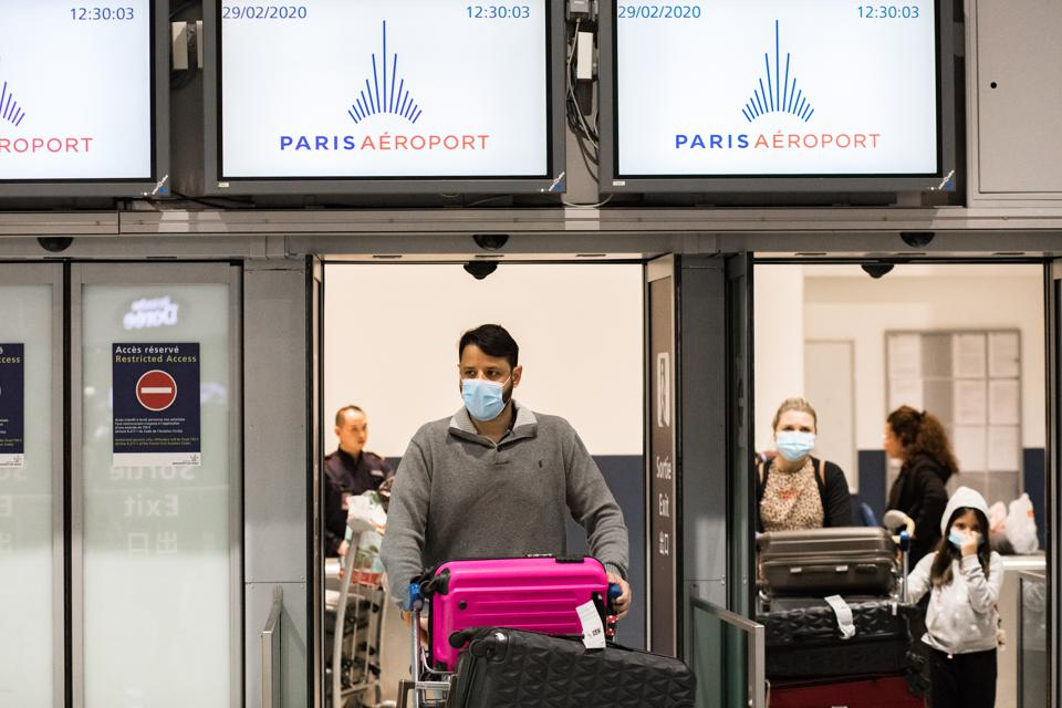 Spread Of Coronavirus At The Airport CDG In Paris France