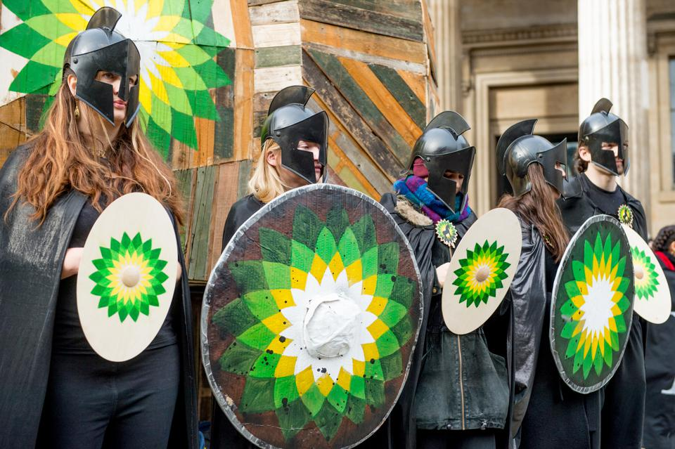 Protesters Hold Fall Of BP Action Outside The British Museum
