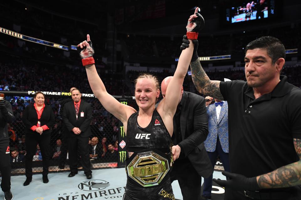 Valentina Shevchenko retained her title at UFC 247