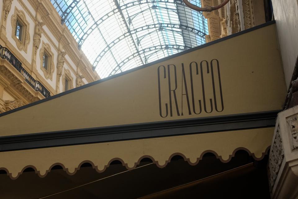 The Cracco restaurant in the Galleria Vittorio Emanuele II. (Photo by Mairo Cinquetti/NurPhoto via Getty Images)