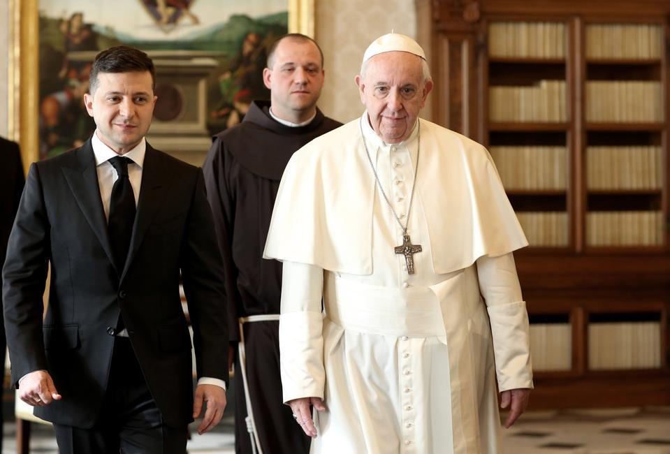 Pope Francis meets the President of Ukraine Volodymyr Zelensky