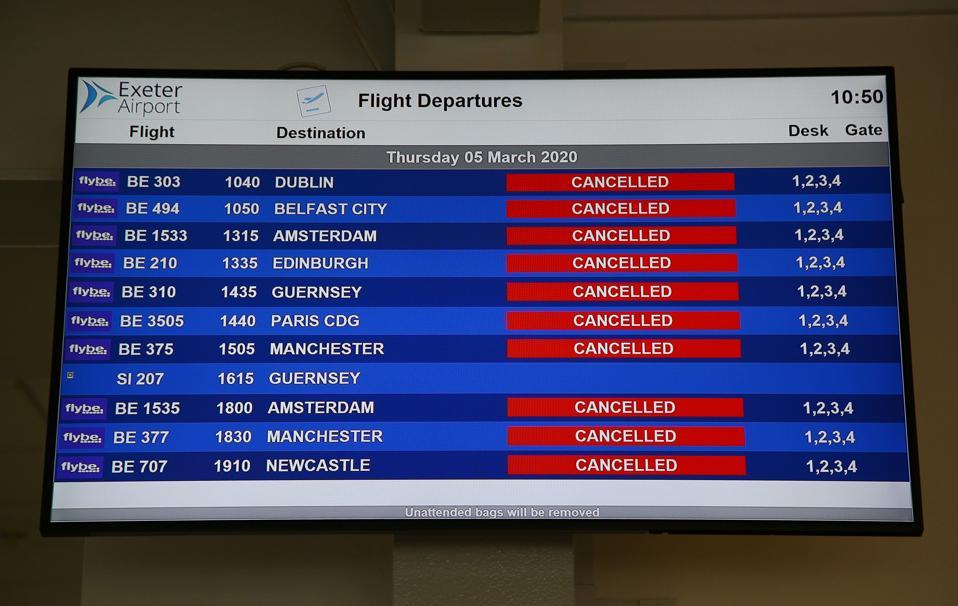 BRITAIN-AVIATION-BANCKRUPTCY-VIRUS-FLYBE