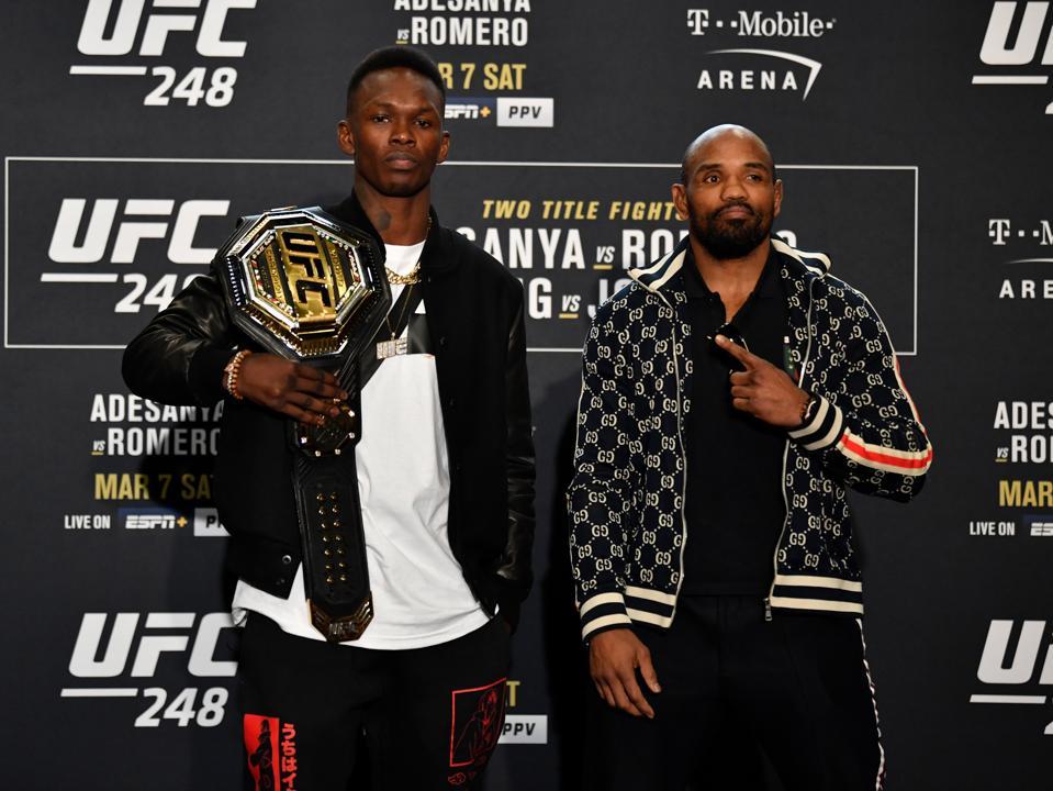 Israel Adesanya faces Yoel Romero in the main event of Saturday's UFC 248