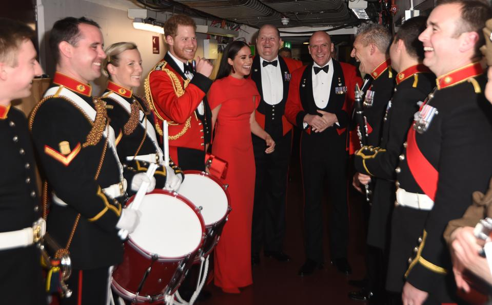 Duke And Duchess Of Sussex at the Mountbatten Music Festival