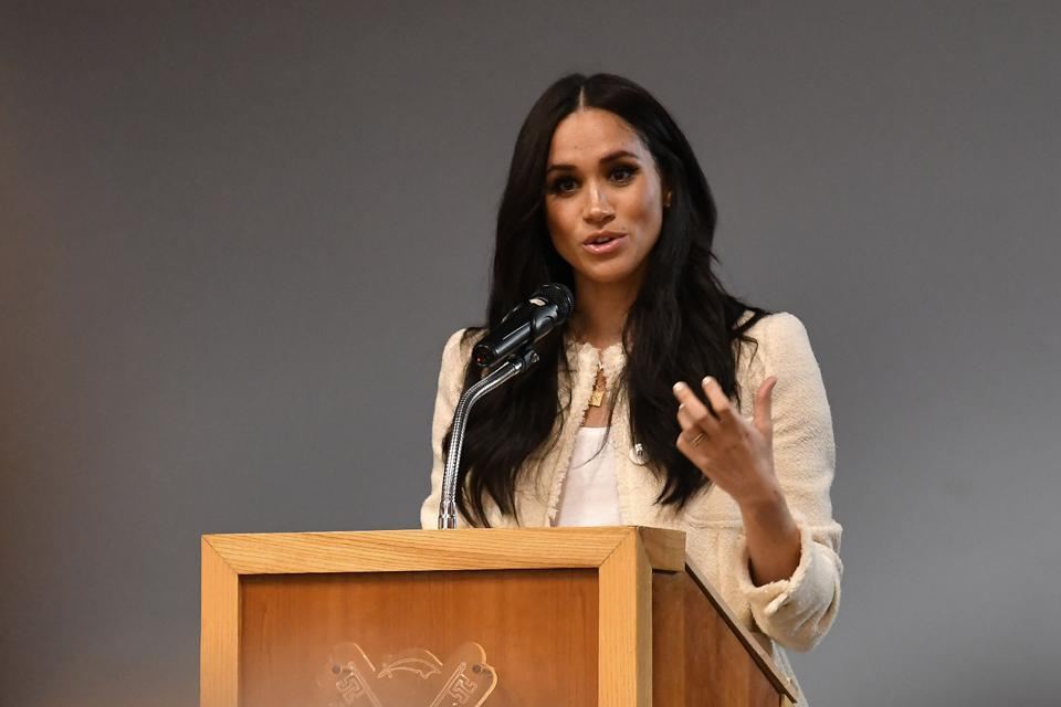 The Duchess Of Sussex Visits The Robert Clack Upper School In Dagenham