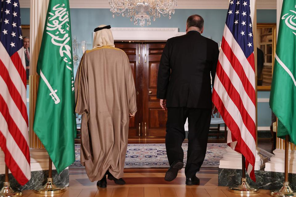 Secretary Of State Pompeo Meets With Saudi Foreign Minister At State Department