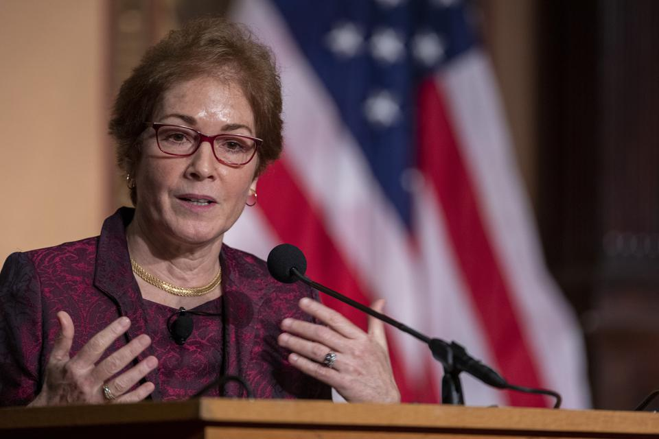 Marie Yovanovitch Awarded Trainor Award For Excellence In Diplomacy At Georgetown